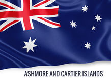 Australian state Ashmore and Cartier Islands flag. Stock Images