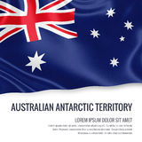 Australian state Australian Antarctic Territory flag. Australian state Australian Antarctic Territory flag waving on an isolated white background. State name Stock Image
