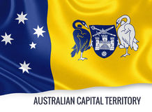 Australian state Australian Capital Territory flag. Stock Photo