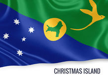 Australian state Christmas Island flag. Stock Images