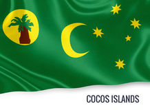 Australian state Cocos Islands flag. Stock Image