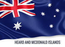 Australian state Heard and Mcdonald Islands flag. Stock Photography