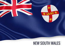 Australian state New South Wales flag. Royalty Free Stock Photography
