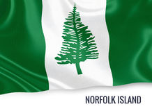 Australian state Norfolk Island flag. Stock Images
