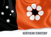 Australian state Northern Territory flag. Royalty Free Stock Image