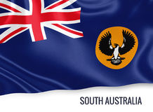 Australian state South Australia flag. Royalty Free Stock Photos