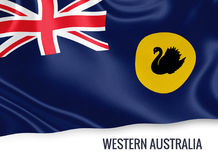 Australian state Western Australia flag. Royalty Free Stock Photo