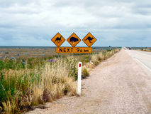 Australian Straight Road. 96 Kilometer of Straight Road in the Australian Outback stock photography