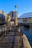 Australian submarine HMAS Onslow at the National Maritime Museum royalty free stock photo