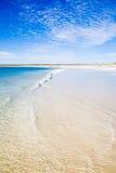 Australian Summer beach sea shore beautiful. Western Australias Ningaloo reef coastline. Beautiful blue skies and calm clear ocean stock photos
