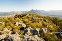 Australian. On the summit in Mt Maroon,Mount Barney National Park,QLD,Australia Royalty Free Stock Image