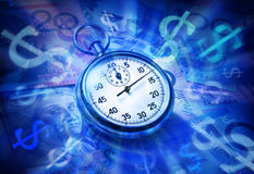 Australian Superannuation Time Is Money Stock Photo