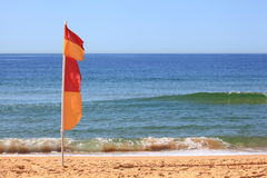 Australian Surf Lifesaving Flag Royalty Free Stock Image