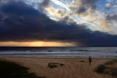 Australian surfing landscape royalty free stock photos