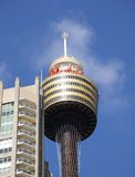 The Australian Sydney Tower eye. Sydney Tower eye with the observation deck in New South Wales in Australia Stock Photos