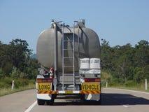 Australian tanker. Tanker on australian highway Royalty Free Stock Photos