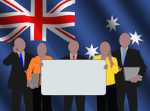 Australian team with flag Royalty Free Stock Photos