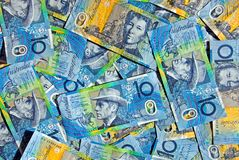 Australian Ten Dollar Notes Royalty Free Stock Photos