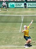 Australian Tennis player Sam Groth during Davis Cup singles Stock Image