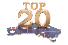 Australian Top 20 concept, 3D rendering Stock Images