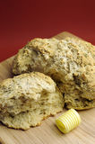 Australian traditional damper bread - close up. Royalty Free Stock Photo