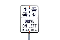 Australian traffic sign Royalty Free Stock Photo