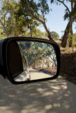 Australian travel image in car side mirror Stock Image