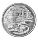 Australian twenty cent coin Stock Image