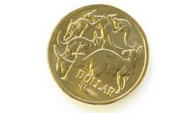 Australian uma moeda do dólar fotografia de stock