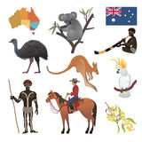 Australian vector collection. Travel  infographic.  All objects are conveniently grouped  and are easily editable Royalty Free Stock Images