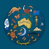 Australian vector doodle set Stock Photo