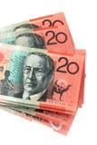Australian vinte notas do dólar foto de stock