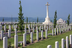Australian War Cemetery - The Somme - France. The Australian Cemetery in the Vallee de la Somme in the Le Nord & Picardy region of France. The Battle of the stock photo