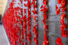 Australian War Memorial Wall of Honour Royalty Free Stock Photo