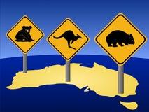 Australian warning signs Royalty Free Stock Photos