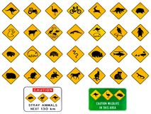 Australian warning signs vector illustration