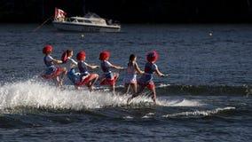 World Water Ski Show Tournament - Huntsville, Ontario, Canada on September 8, 2018 royalty free stock image