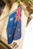 Australian waving flag outdoor Royalty Free Stock Images