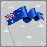 Australian wavy flag. Vector illustration. Australian flag wavy abstract background. Vector illustration royalty free illustration