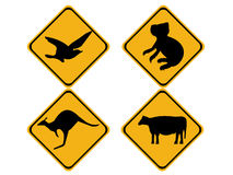 Australian wildlife signs Royalty Free Stock Images