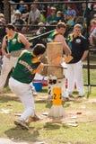 Australian wood cutter Blake Marsh at the Royal Adelaide Show, September 2014. Royalty Free Stock Photos