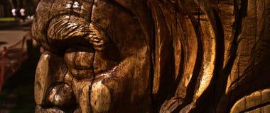 Australiana Tree Wood Carving. Wood carving of an aboriginal tree at Mt Dandenong, Victoria, Australia royalty free stock images