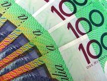 Australiano 100 notas del dólar Fotografía de archivo libre de regalías