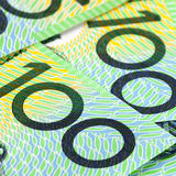 Australiano cientos cuentas de dólar Fotos de archivo