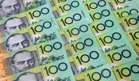 Australiano cientos notas del dólar Fotografía de archivo