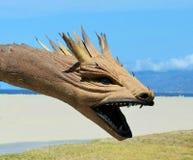 Australiano Didgeridoo Dragon Head Foto de archivo libre de regalías