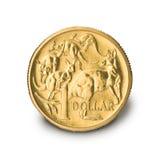 Australiano una moneda del dólar fotos de archivo libres de regalías