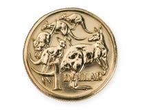 Australiano una moneta del dollaro Fotografia Stock Libera da Diritti
