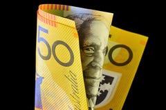 Australiano una nota dei cinquanta dollari Immagini Stock Libere da Diritti