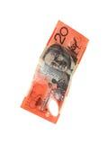 Australiano una nota dei venti dollari Fotografia Stock